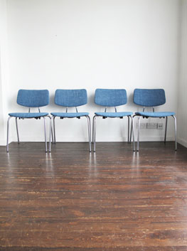 Re Upholstered Chrome Dining Chairs By Duba Denmark