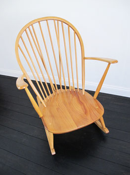 Large Beech Amp Elm Grandfather Rocking Chair By Ercol Uk