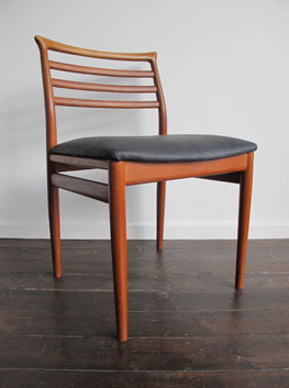 Teak amp Leather Dining Chairs By Erling Torvits For Soro