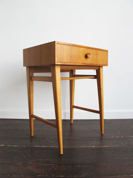 Vintage Oak Side Table By Meredew Uk