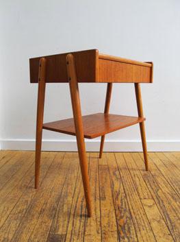 Danish Teak Side Table.