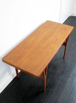 teak coffee side table by troeds sweden