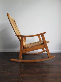 vintage beech papercord rocking chair habitat uk. Black Bedroom Furniture Sets. Home Design Ideas