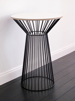 Textured Ply Amp Steel Tulip Side Table