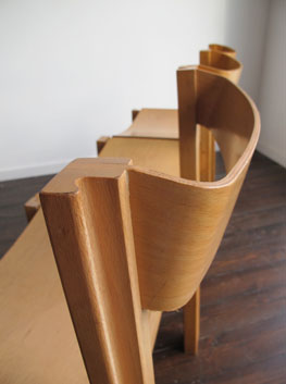 Beech U0026 Ply Stacking Interlocking Chairs By Clive Bacon.