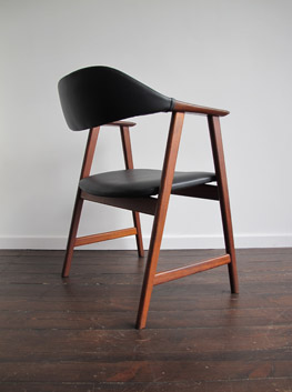 teak desk chair