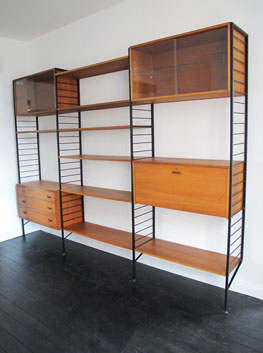 Teak Amp Steel Ladderax Shelving System By Ladderax Uk