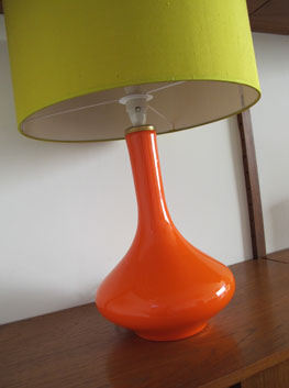 Orange Table Lamp by Holmegaard, Denmark