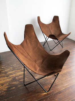 Pair Of U0027Butterflyu0027 Chairs By Jorge Ferrari Hardoy For Knoll International,  USA.